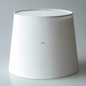 Round cylindrical lampshade height 21 cm, off white chintz fabric