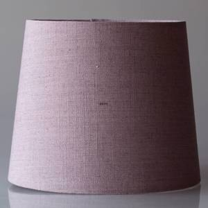 Round cylindrical lampshade height 21 cm covered with rose coloured flax fa...