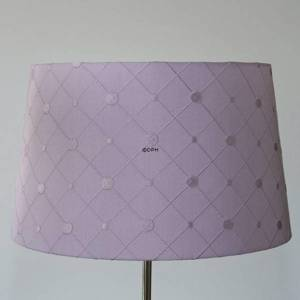 Round cylindrical lampshade height 21 cm, covered with rosa silk material with pattern | No. P212935A112 | Alt. CL311-1 | DPH Trading