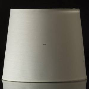 Round cylindrical lampshade height 22 cm, off white chintz fabric | No. P222328A3300R | DPH Trading