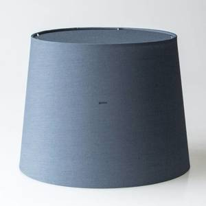 Round cylindrical lampshade height 26 cm, blue chintz fabric | No. P262934A6100R | DPH Trading
