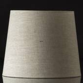 Round cylindrical lampshade height 27 cm, beige flax fabric