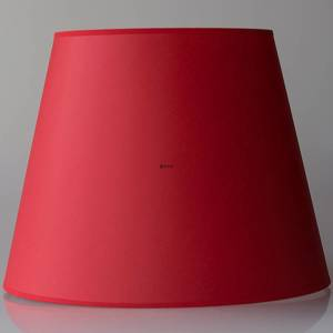 Round cylindrical lampshade height 28 cm, red chintz fabric