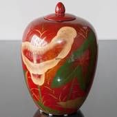 Red Chinese jar