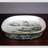 Faience bowl with Eiders by Nils Thorssen, Royal Copenhagen
