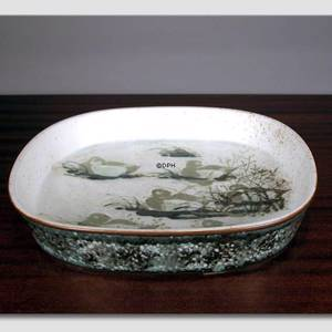 Faience bowl with Eiders by Nils Thorssen, Royal Copenhagen | No. R1049-5304-F | DPH Trading