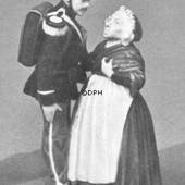 The soldier and the witch from the Tinderbox, Royal Copenhagen figurine