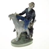 Hans Clodhopper, Boy riding on Goat, Royal Copenhagen figurine No. 1228