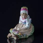 Sealand Girl with Garland, Royal Copenhagen figurine no 12418