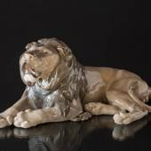 Lion figurine, Lying Majesticly, Royal Copenhagen figurine, Lauritz Jensen ...