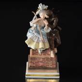 The Shepherdess and the Sweep, Royal Copenhagen overglaze figurine