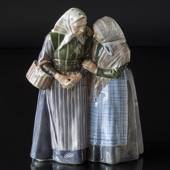 Two old women talking knowingly, Royal Copenhagen figurine No. 1319