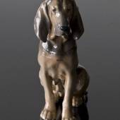 Female bloodhound sitting, Royal Copenhagen figurine