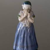 Girl from Bornholm in regional costume, Royal Copenhagen figurine
