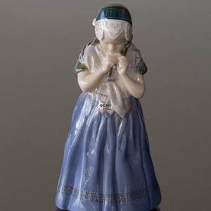 Girl from Bornholm in regional costume, Royal Copenhagen figurine No. 1323