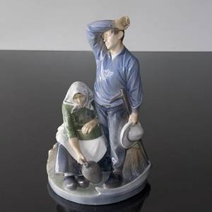 Harvest group taking a break, Royal Copenhagen figurine