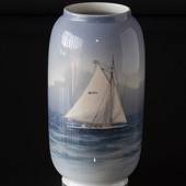 Vase with Sailing Ship, Royal Copenhagen No. 1484-107