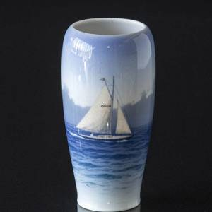 Vase with Sailing Ship, Royal Copenhagen