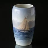 Vase with Sailing Ship, Royal Copenhagen No. 1484-237