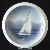 Bowl with Sailing Ship, Royal Copenhagen