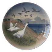 LARGE Plate with Geese, Royal Copenhagen