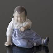 Child with blue pants, ditting, Royal Copenhagen figurine