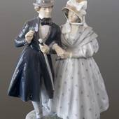 An evening in Tivoli with a young couple, Royal Copenhagen figurine No. 159...