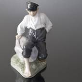 Shepherd boy on Rock looking to the herd, Royal Copenhagen figurine No. 165...