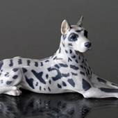 Great Dane with spots, Royal Copenhagen dog figurine No. 1679