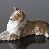 Collie lying comfortably, Royal Copenhagen dog figurine