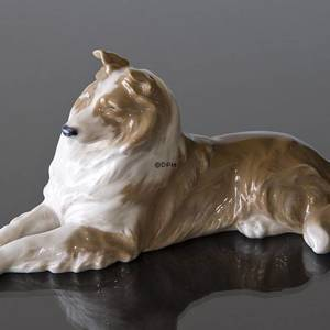 Collie lying comfortably, Royal Copenhagen dog figurine | No. R1701 | DPH Trading