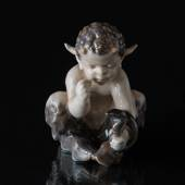 Faun with snake, Royal Copenhagen figurine