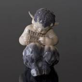 Faun (satyr, Pan) playing flute, Royal Copenhagen figurine