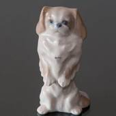 Pekingese dog standing up, Royal Copenhagen dog figurine