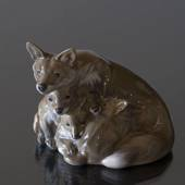 Vixen with cubs, Royal Copenhagen figurine No. 1788