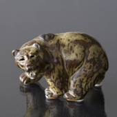 Bear, standing roaring to the side, Royal Copenhagen stoneware figurine No....