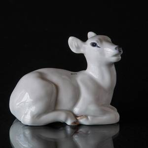 Lying Fawn white, Royal Copenhagen figurine