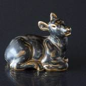 Lying Fawn, Royal Copenhagen stoneware figurine