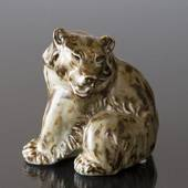 Bear, sitting, Royal Copenhagen stoneware figurine
