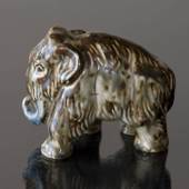 Mammoth standing in all its might, Royal Copenhagen stoneware figurine