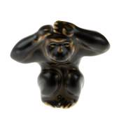 Monkey deeply surprised, 6,5cm, Royal Copenhagen Stoneware figurine