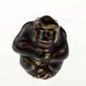 Monkey sitting, Royal Copenhagen stoneware figurine