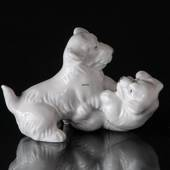 Playing Sealyham dogs Royal Copenhagen dog figurine