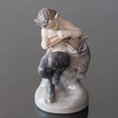 Faun (satyr, Pan) with Owl, Royal Copenhagen figurine