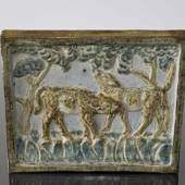Relief with Two Calves, Royal Copenhagen stoneware