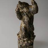 Bear and Snake, who is the stronger?, Royal Copenhagen stoneware figurine N...