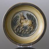 Bowl with Fallow Deer, Royal Copenhagen stoneware No. 21443