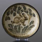 Bowl with Hare, Royal Copenhagen stoneware