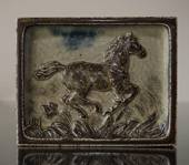Relief with galloping horse, Royal Copenhagen stoneware
