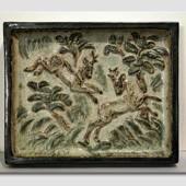 Stoneware plate with deer, Royal Copenhagen